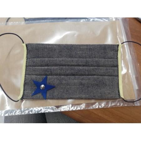 Mascherina Bimbo Jeans con Stella - B22 - 1